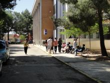 Edificio de Bachillerato y Ciclos Formativos de Sanidad y Administración y Gestión.